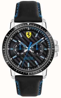 Scuderia Ferrari Turbo correa de cuero negro 0830448