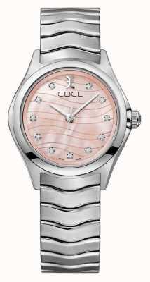 EBEL Reloj con esfera rosa para mujer. Ola diamante. 1216268