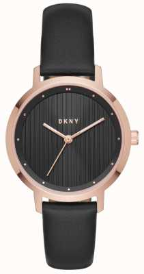 DKNY Womans modernista negro rosa oro NY2641