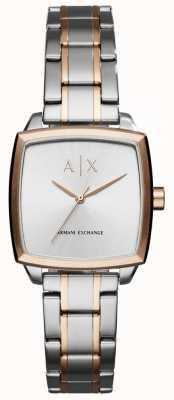 Armani Exchange Pulsera de acero inoxidable de dos tonos de mujer AX5449