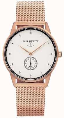 Paul Hewitt Pulsera de malla de oro de la firma de la firma unisex PH-M1-R-W-4M
