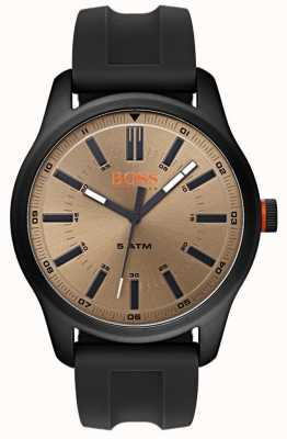 Hugo Boss Orange Mens dublin reloj correa de caucho negro 1550045