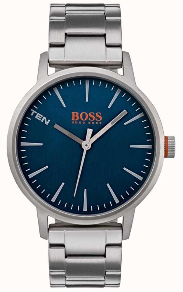 795689c2baf0 Hugo Boss Orange Mens Copenhagen Reloj Esfera Azul 1550058 - First ...