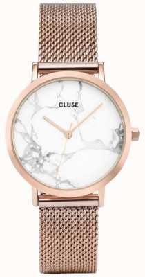 CLUSE Womans la roche petite rosa de oro malla mármol dial CL40107