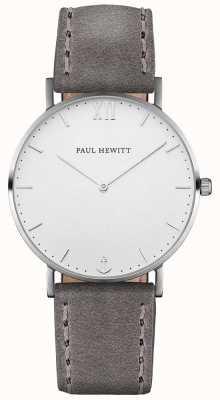 Paul Hewitt Correa de cuero gris unisex marinero PH-SA-S-ST-W-13M