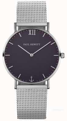 Paul Hewitt Pulsera de malla de acero unisex marinero PH-SA-S-ST-B-4M