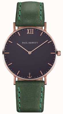 Paul Hewitt Correa de cuero verde unisex marinero PH-SA-R-ST-B-12M