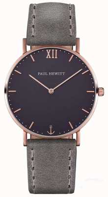 Paul Hewitt Correa de cuero gris unisex marinero PH-SA-R-ST-B-13M