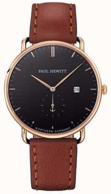 Paul Hewitt Mens el gran atlántico correa de cuero marrón PH-TGA-G-B-1M
