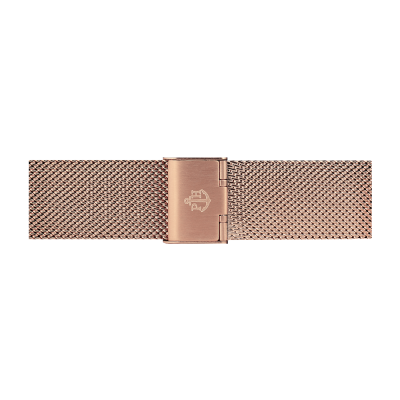 Paul Hewitt Pulsera de malla de acero inoxidable oro rosa 186mm PH-M1-R-4M