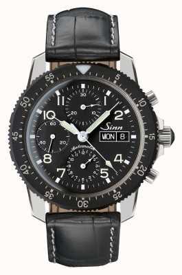 Sinn 103 cronometro clásico crono negro piel de cocodrilo en relieve 103.035