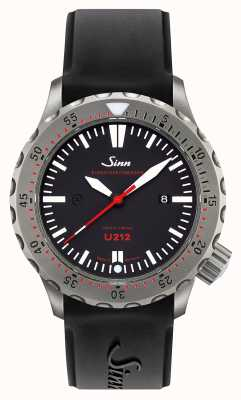 Sinn U212 ezm 16 timer de misión u-barco acero negro correa de silicona 212.040
