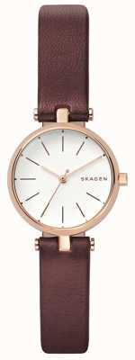 Skagen Reloj para mujer de cuero marrón signatur SKW2641