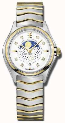 EBEL Reloj moonphase de dos tonos de la onda de las mujeres 1216373