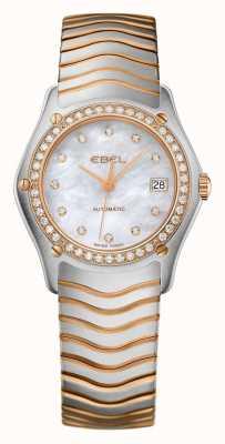 EBEL Ola de diamante para mujer con reloj automático de dos tonos. 1215928