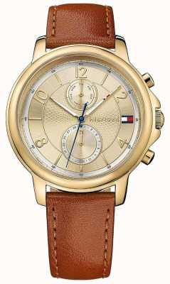 Tommy Hilfiger Reloj de cuero para mujer claudia biscotto 1781818