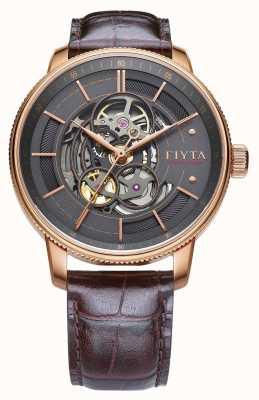 FIYTA Reloj de cuero para hombre de fotógrafo marrón GA860016.PHK
