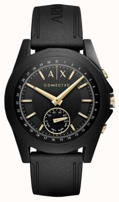 Armani Exchange Smartwatch híbrido conectado para hombre en negro AXT1004