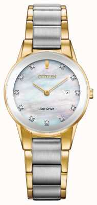 Citizen Modelo anunciado - diamante axioma femenino fecha dos tonos GA1054-50D