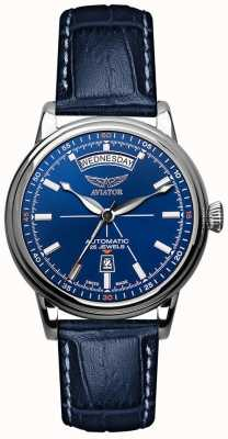 Aviator Mens douglas day date watch blue V.3.20.0.145.4