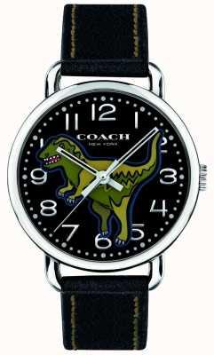 Coach Unisex delancey rexy dinosaurio de cuero negro 14400008