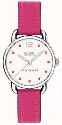 Coach Womans delancey mira correa de cuero rosa 14502906