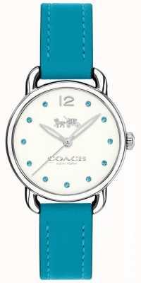 Coach Womans delancey reloj correa de cuero azul 14502911