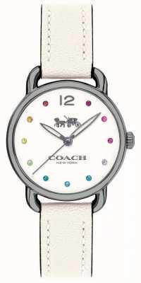 Coach Womans delancey mira correa de cuero blanco 14502915