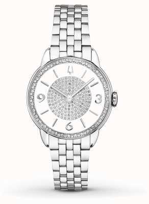 Bulova Reloj del diamante de la pulsera del acero inoxidable de Womans 96R184