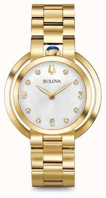 Bulova Reloj del diamante del oro del rubaiyat de Womans 97P125