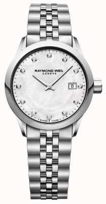 Raymond Weil Freelancer mujer madre de la perla marcar 5629-ST-97081