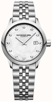 Raymond Weil Freelancer para mujer madre de perla dial 5629-ST-97081
