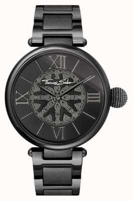 Thomas Sabo Reloj de acero del ip del negro de las karmas de la mujer WA0307-202-203-38