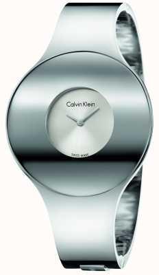 Calvin Klein Medias de acero sin costuras de plata de Womans K8C2M116