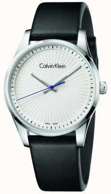 Calvin Klein Reloj unisex de cuero negro K8S211C6