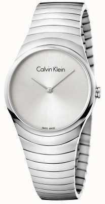 Calvin Klein Reloj de mujer plateado de acero inoxidable K8A23146
