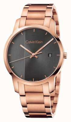 Calvin Klein Reloj plateado oro de la mujer del oro de la mujer K2G2G643