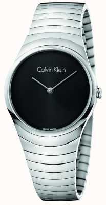Calvin Klein Reloj de plata de acero inoxidable de Womans K8A23141