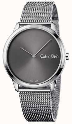 Calvin Klein Correa de malla de reloj minimalista unisex K3M211Y3