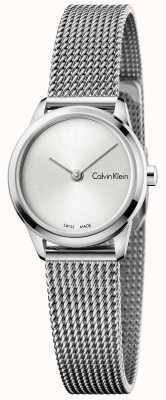 Calvin Klein Reloj de mujer minimalista reloj de plata K3M231Y6