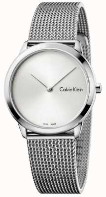 Calvin Klein Reloj de mujer minimalista reloj de plata K3M221Y6
