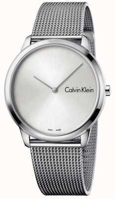 Calvin Klein Reloj de mujer minimalista reloj de plata K3M211Y6