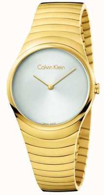 Calvin Klein Reloj de pulsera de oro de acero inoxidable de Womans K8A23546