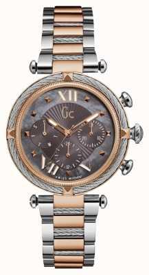 Gc Womch cablechic deporte 2 veces rosa de oro y tono de plata Y16015L5