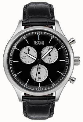 Boss Reloj cronógrafo para hombre de pulsera negro 1513543