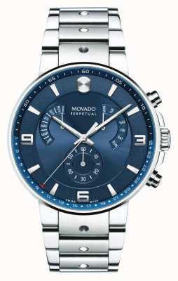 Movado Mens se pilot retrograde reloj azul dial 0607129