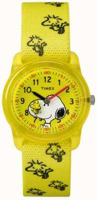 Timex Joven analógico amarillo correa woodstock snoopy TW2R41500JE