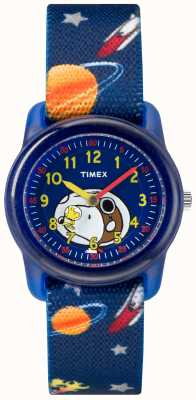 Timex Correa azul analógica juvenil snoopy espacio exterior TW2R41800JE