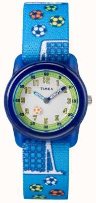 Timex Juventud analógica correa azul fútbol TW7C165004E