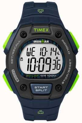 Timex Ironman clásico 30 fs negro y lima TW5M11600D7PF